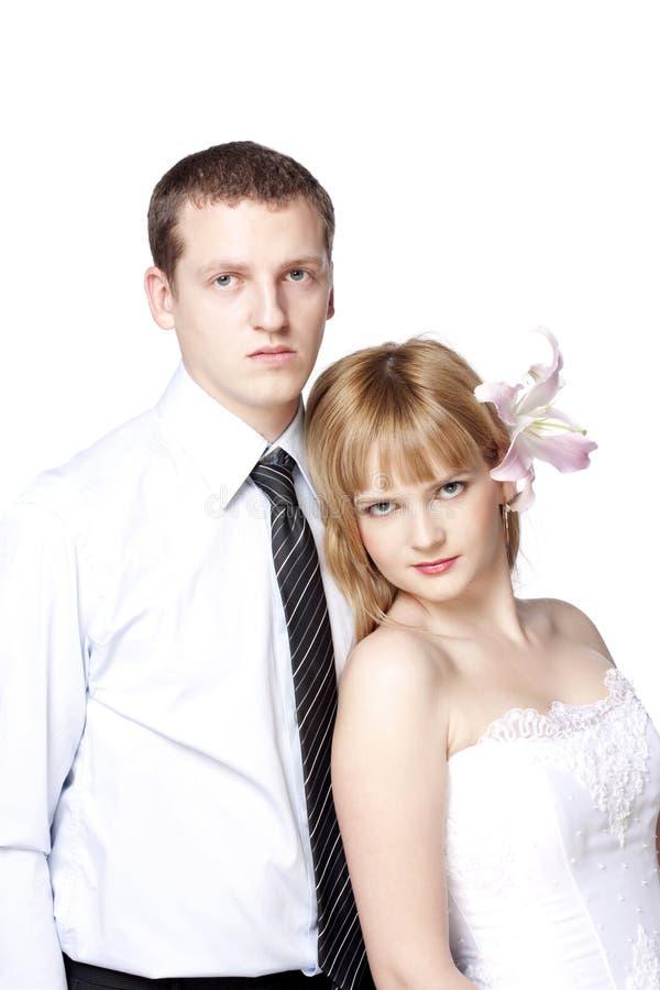 Bei giovani coppie, uomo e donna immagine stock