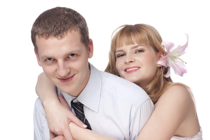 Bei giovani coppie, uomo e donna fotografia stock libera da diritti