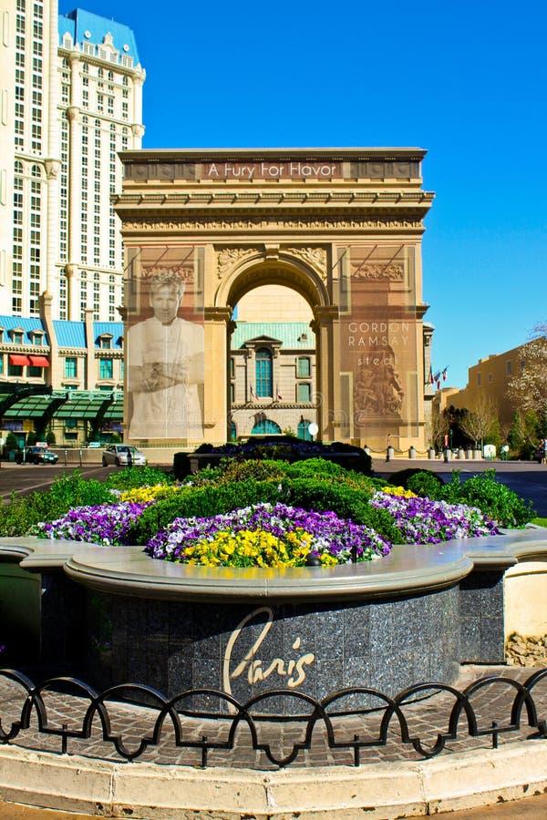 Hotel e casinò di Parigi Las Vegas fotografia stock libera da diritti