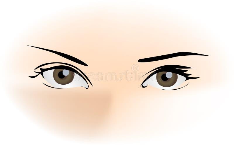 Bei occhi royalty illustrazione gratis
