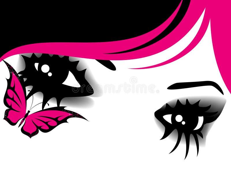 Bei occhi womanish illustrazione vettoriale