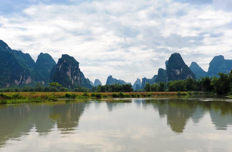 Bei paesaggi cinesi immagine stock