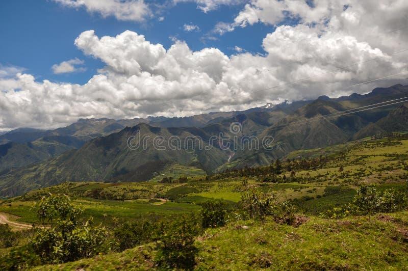 Bei paesaggi del Perù, vicino a Abancay fotografie stock libere da diritti