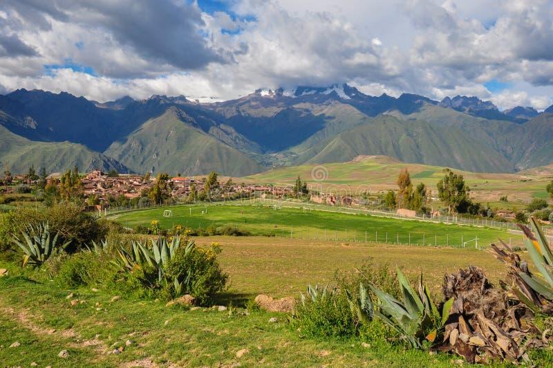 Bei paesaggi del Perù, vicino a Abancay fotografia stock