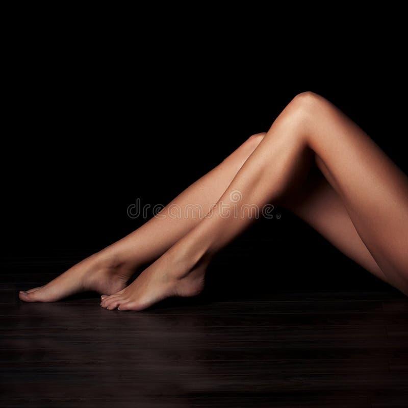 Bei piedini femminili fotografia stock