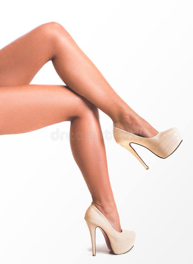 Bei piedini femminili immagini stock