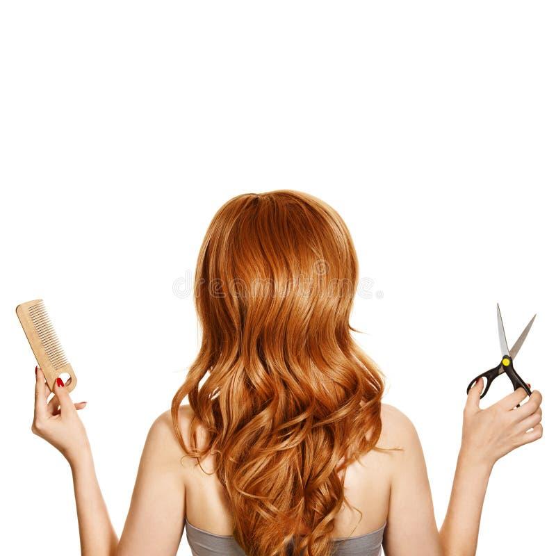 Bei strumenti del parrucchiere e dei capelli ricci fotografie stock libere da diritti