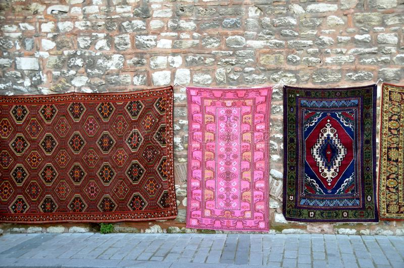 Bei tappeti orientali fotografie stock