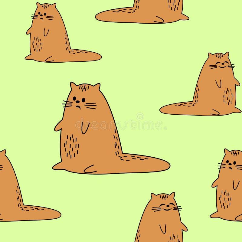 Bei tessuti creativi Immagine dei gattini originali Carta da parati e fondo per una stanza dei bei bambini Vettore illustrazione vettoriale