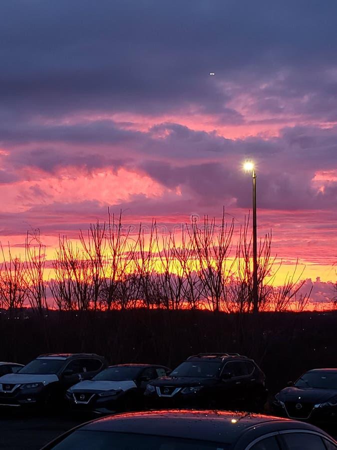 Bei tramonti fotografie stock