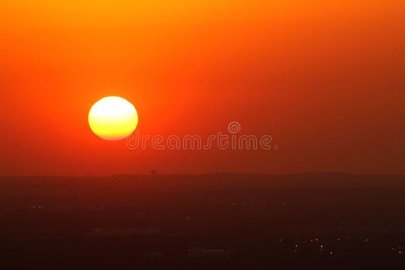Bei tramonto/orizzonte di San Antonio immagini stock