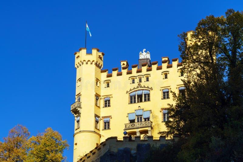 Beieren, Duitsland - Oktober 15, 2017: Hohenschwangaukasteel, chil royalty-vrije stock afbeeldingen