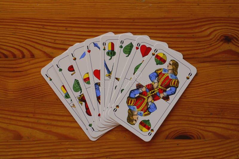 Beiers kaartspel Schafskopf royalty-vrije stock afbeelding