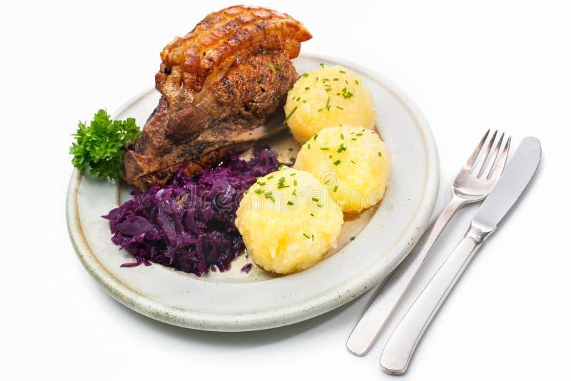 Beierse maaltijd royalty-vrije stock afbeeldingen
