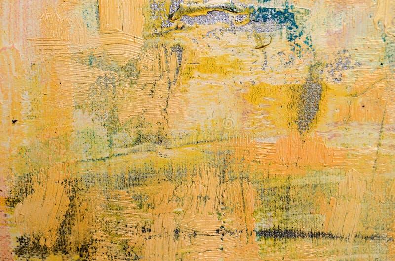 Beiga abstrakta Art Painting royaltyfria foton