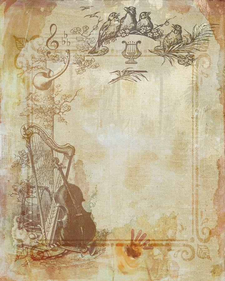 Beiga befläckt texturerat papper arkivbilder