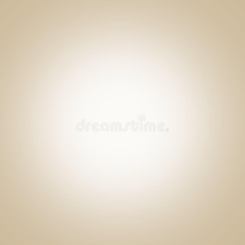 Beige achtergrond met licht centrum, gradiënt stock illustratie