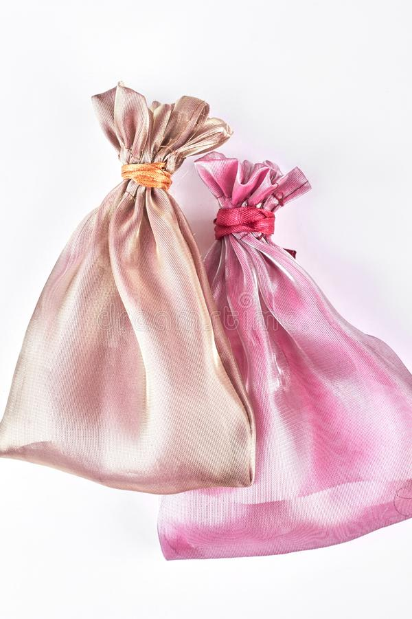 Free Beige And Pink Jewelry Bags. Stock Photo - 103273110