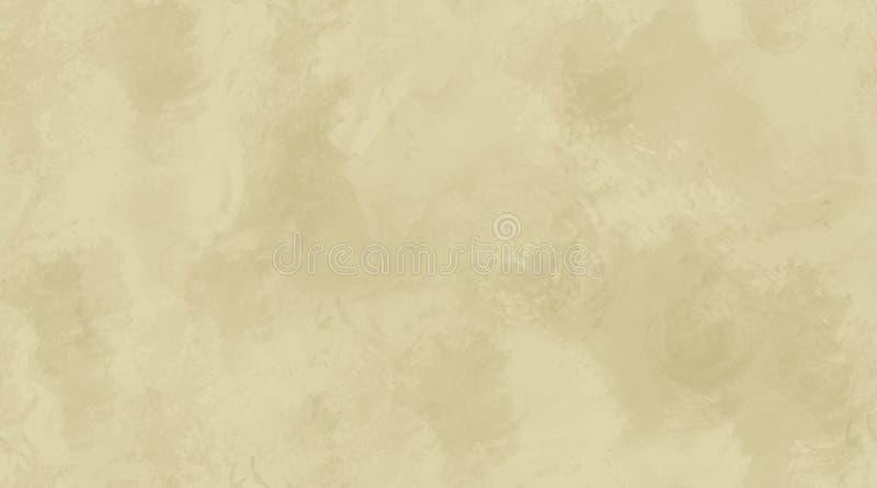Beige Aquarell-Hintergrund-nahtlose Fliesen-Beschaffenheit lizenzfreie abbildung
