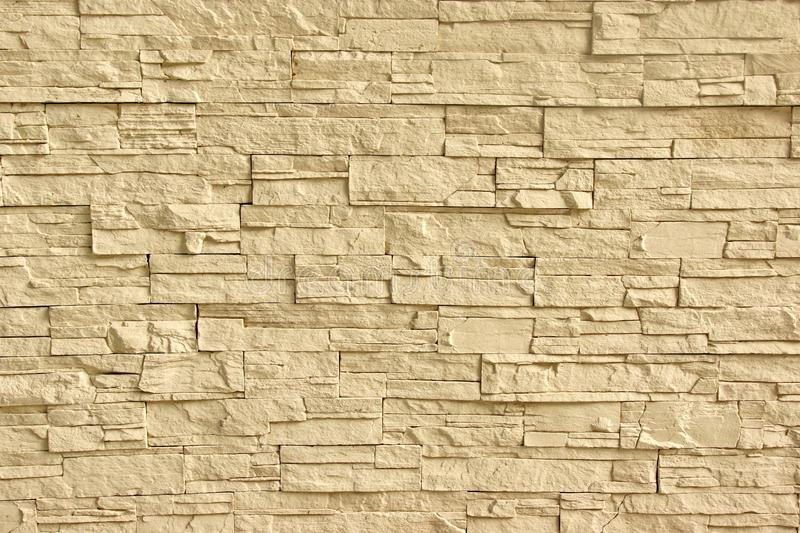 Beige Artificial Stone Wall Stock Image - Image of rough, materials ...
