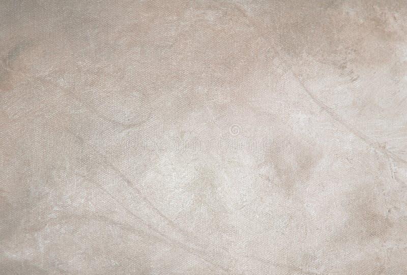 Beige atmosfärisk kanfas för olje- målning arkivfoton