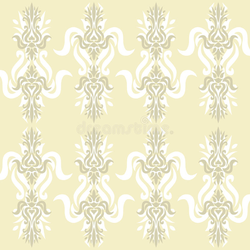 Beige behang royalty-vrije illustratie