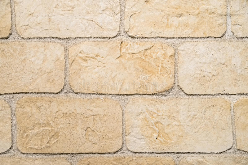 Beige brick wall texture royalty free stock image