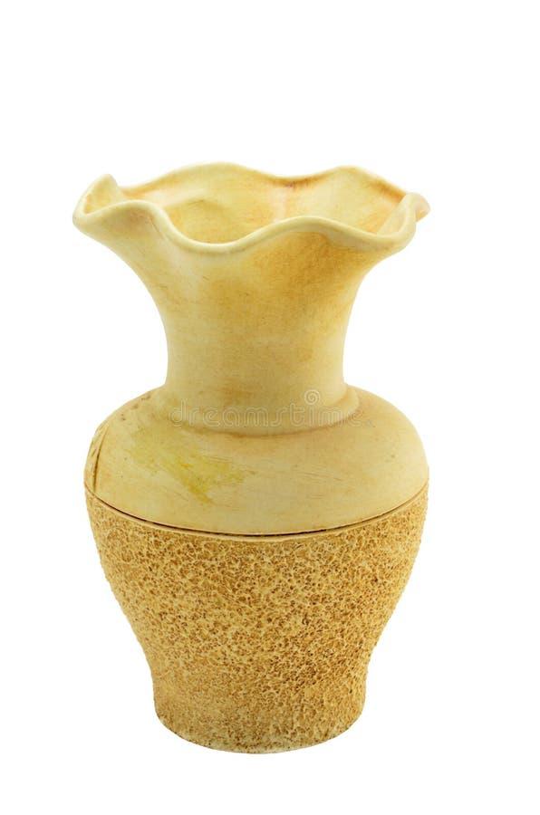 Beige Ceramische Vaas Royalty-vrije Stock Foto's