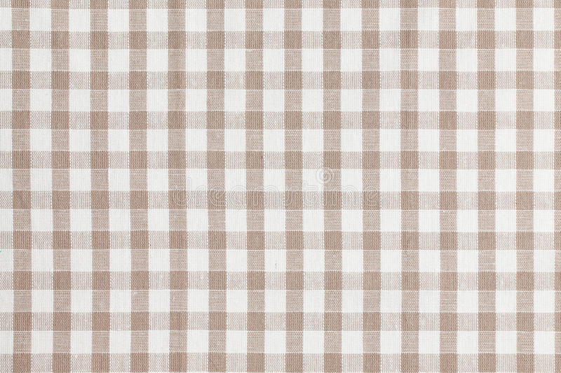 Download Beige Checkered Fabric. Tablecloth Texture Stock Photo - Image: 27634302