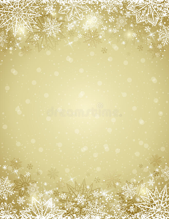 Free Beige Christmas Background With Frame Of Snowflakes And Stars Royalty Free Stock Photo - 80001305