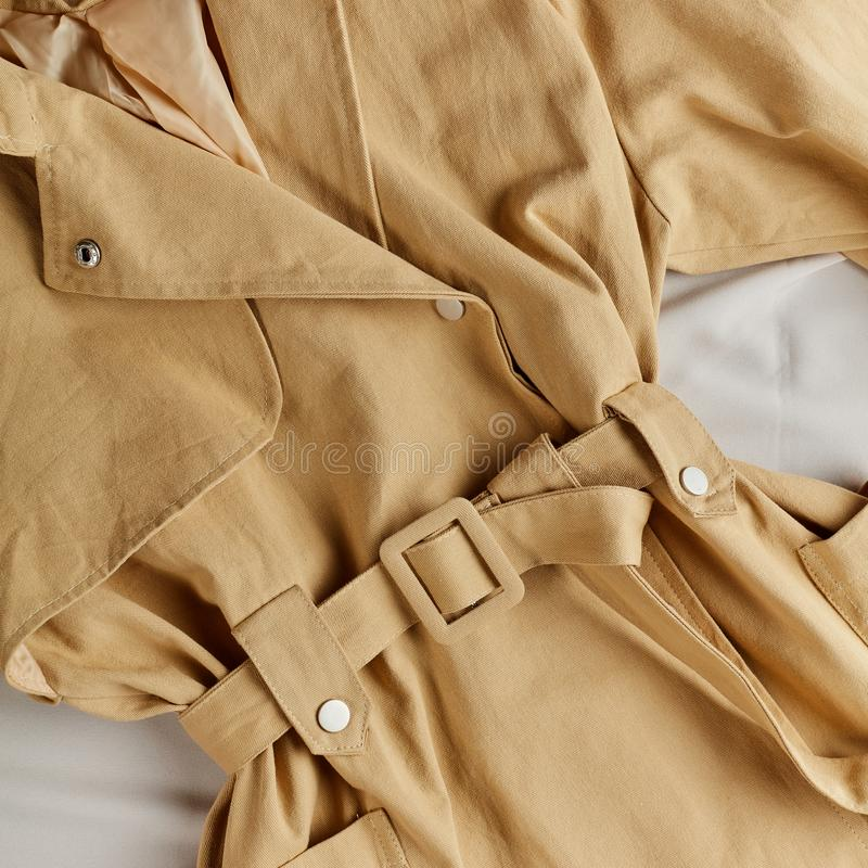Beige color is into fashion in this season royalty free stock photography