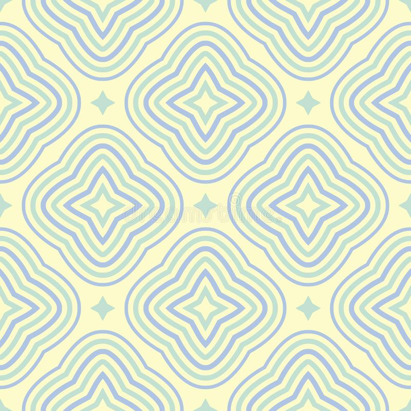 Beige colored geometric seamless pattern. Pale background vector illustration