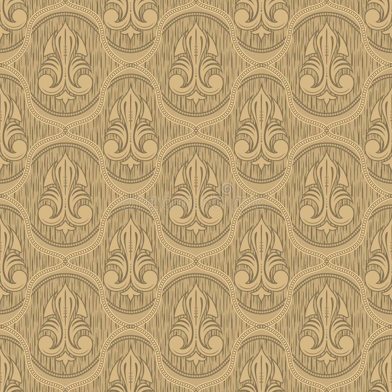 Download Beige Colour Old Style Seamless Background Stock Vector - Illustration: 26313485