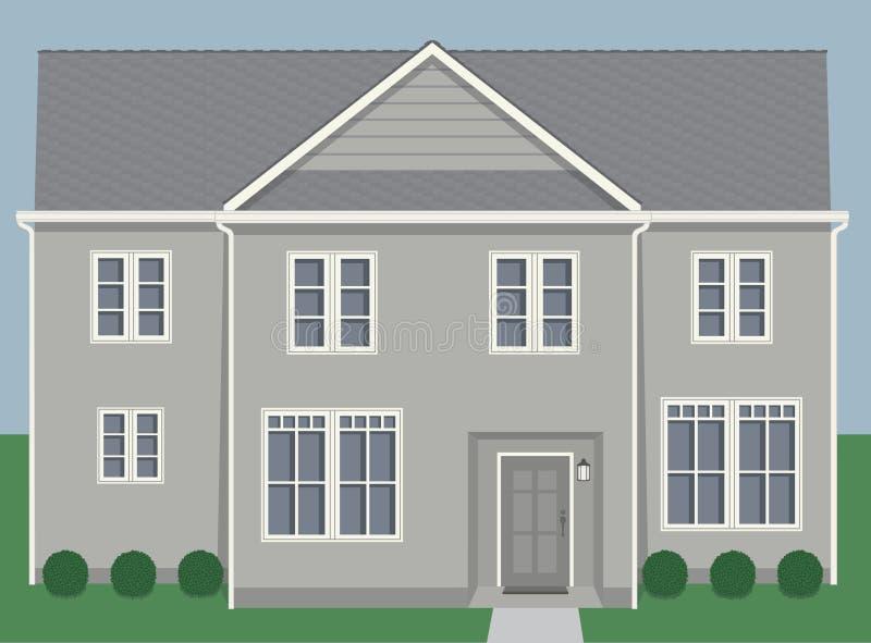 Beige contemporáneo de la casa stock de ilustración