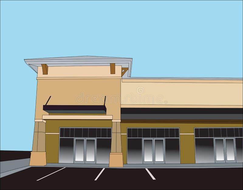 Beige corner retail store royalty free illustration