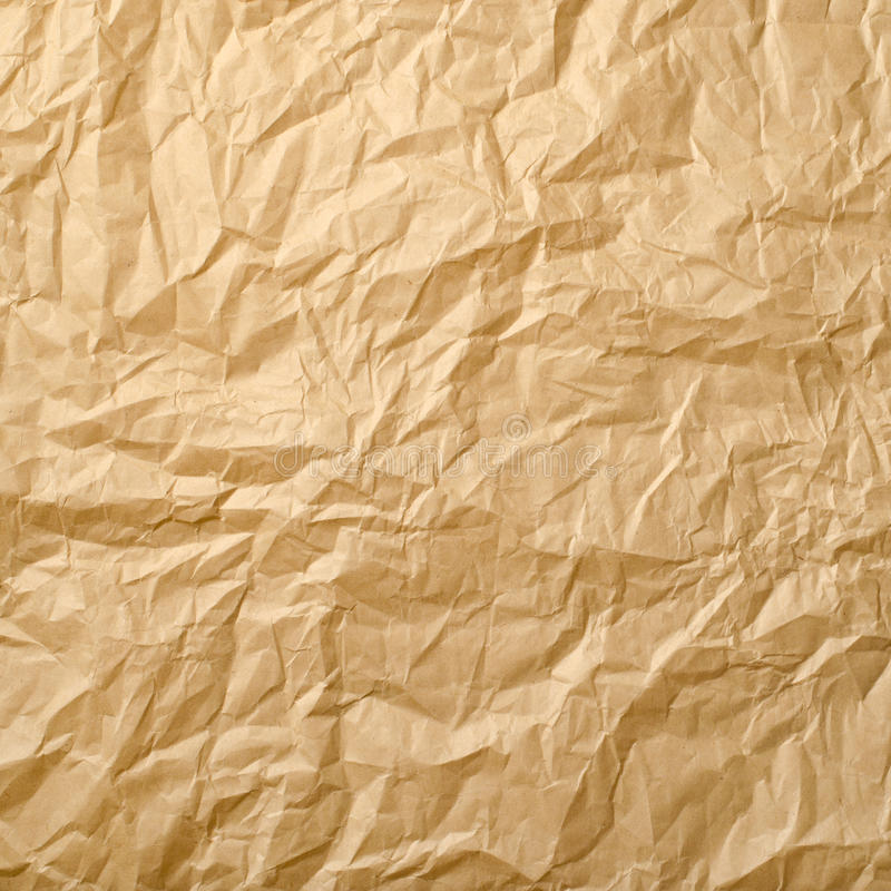 Beige Crumpled Paper Stock Images
