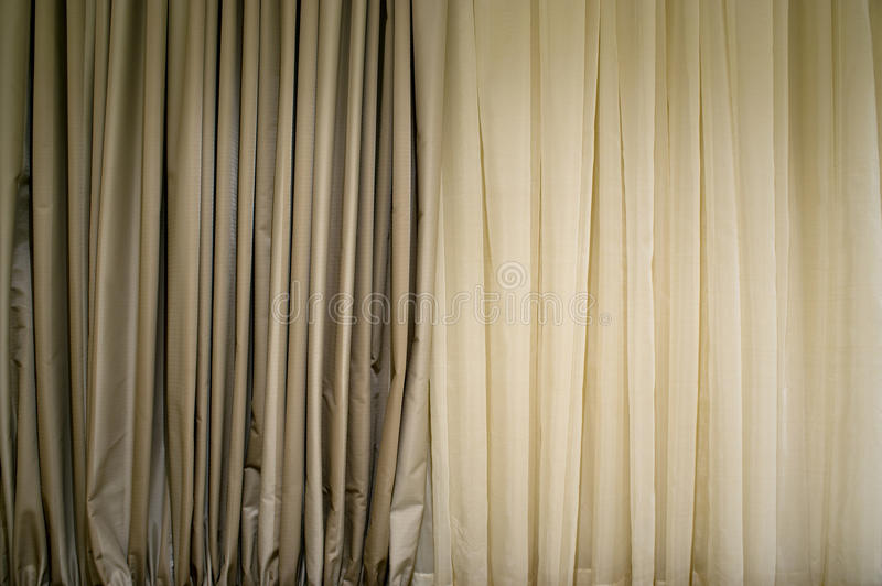 Beige Curtain Royalty Free Stock Photo