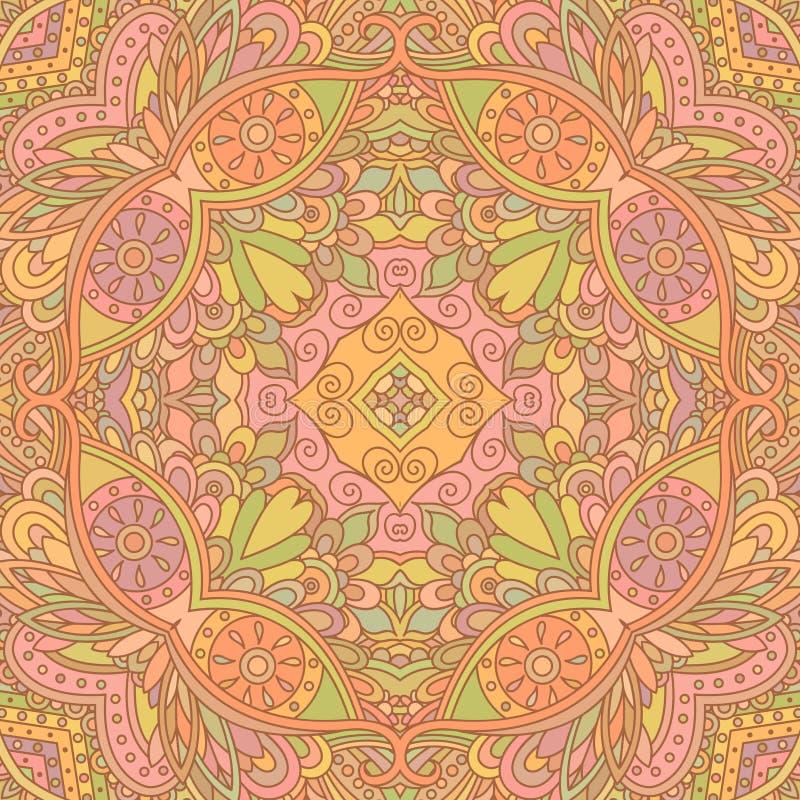 Beige decoratief naadloos patroon royalty-vrije illustratie