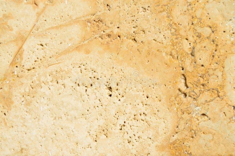 Beige e struttura del marmo dell'oro fotografie stock