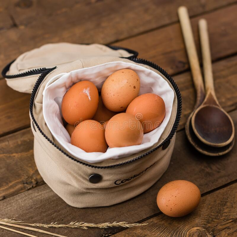 Beige Egg Inside A White Bag Free Public Domain Cc0 Image