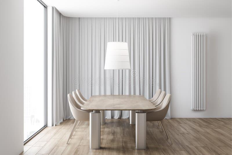 Beige Esszimmerinnenraum der Stühle lizenzfreie abbildung