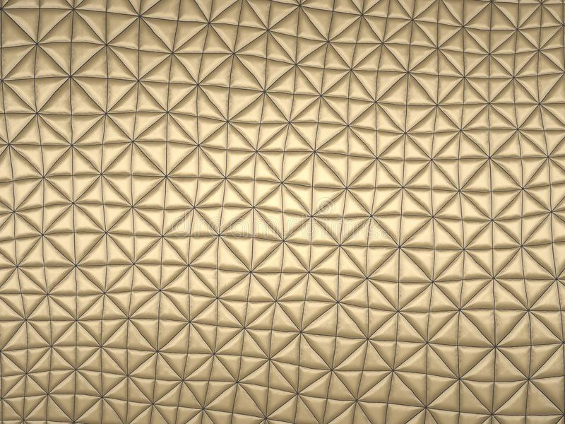 Beige fabric with triangle stitched pattern stock images
