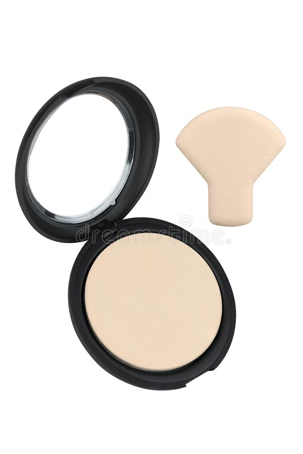 Beige Cosmetic Sponge Pad For Applying Face Powder