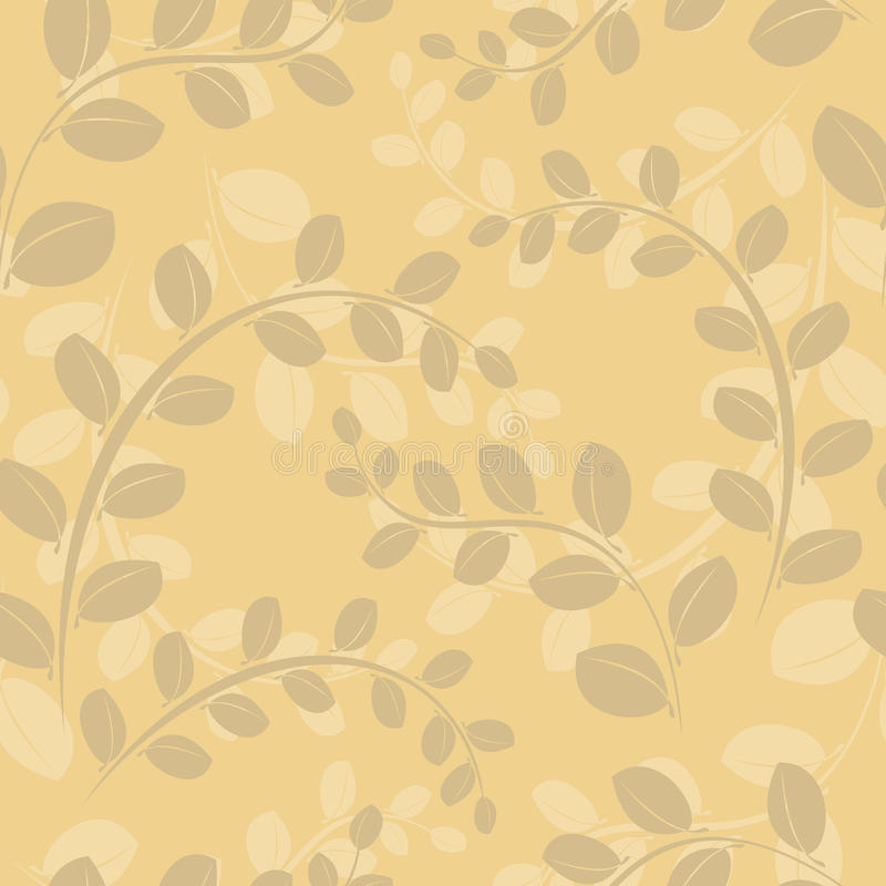 Download Beige Floral Seamless Pattern - Vector Stock Vector - Image: 17771114