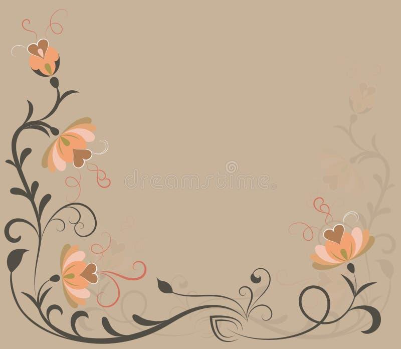 Download Beige flowers background stock vector. Illustration of illustration - 26329793