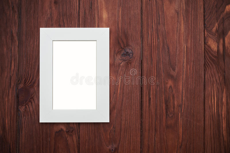 Download Beige Frame Without Photo On Brown Wooden Desk Stock Illustration - Illustration of background, color: 70384122