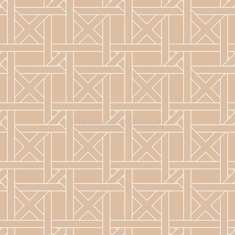 Beige geometric ornament. Seamless pattern stock illustration