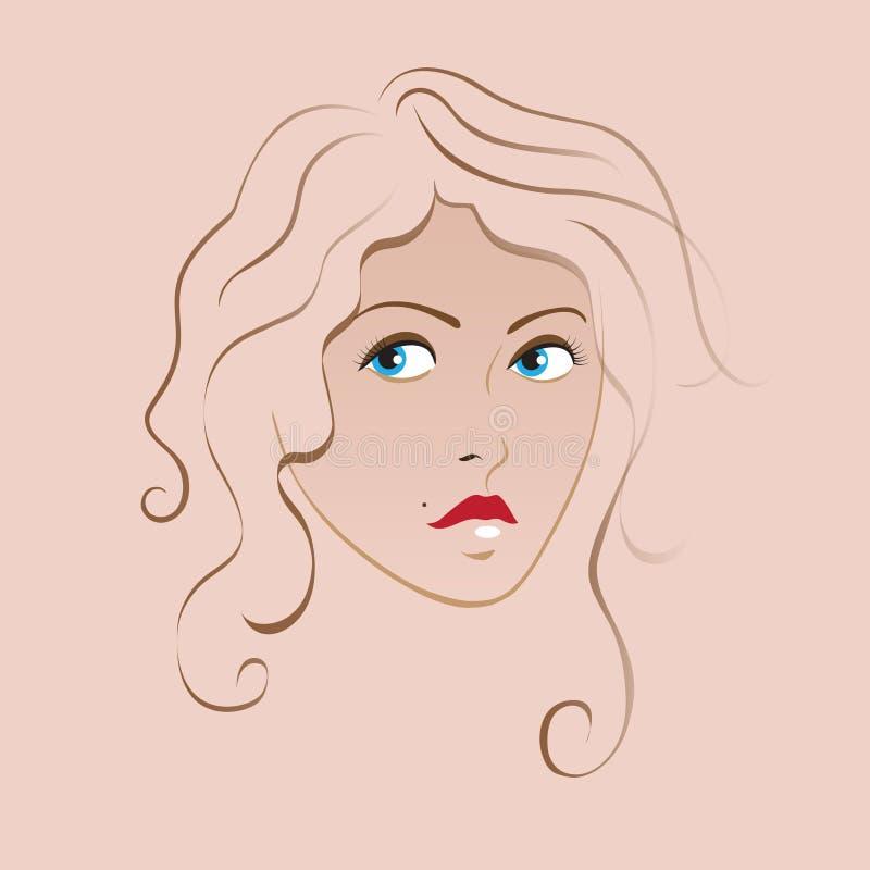 Beige girl stock illustration