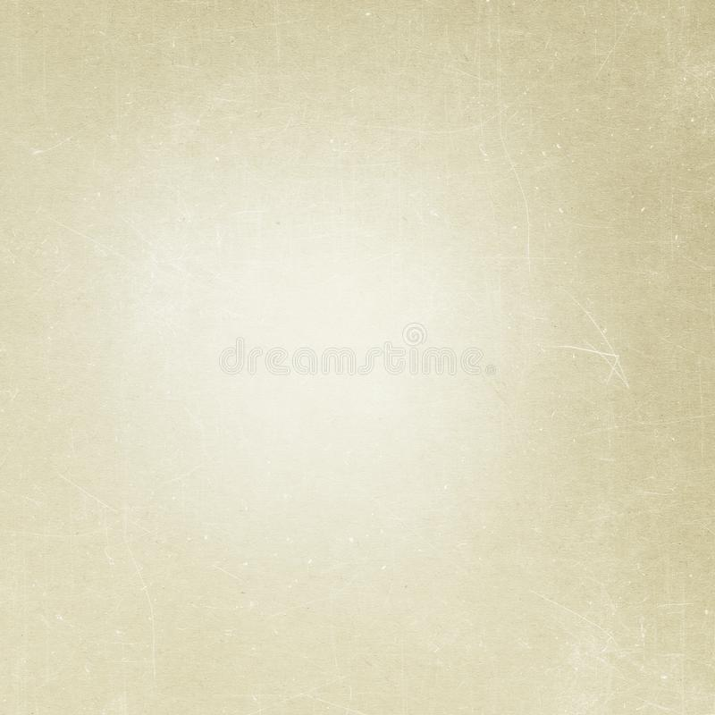 Beige grunge background, old paper texture, dust, scratch, vintage, retro, blank, page royalty free stock photos