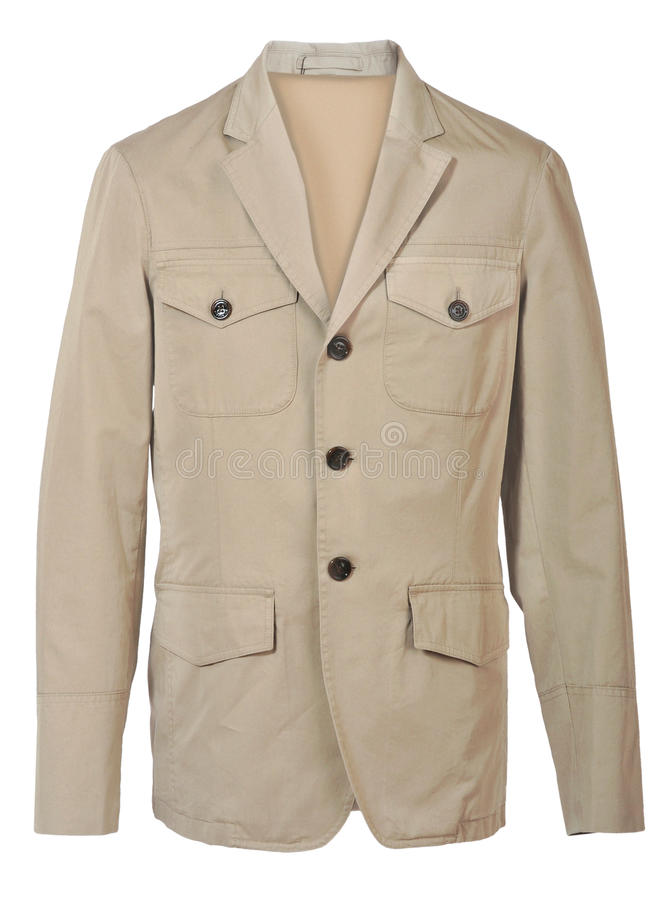 Beige Jacket Royalty Free Stock Photography